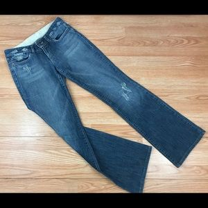 Joe's Jeans Love Medium Blue Straight Leg Flare 28